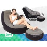 Sillon Sofa Inflable Con Reposapies 2en1 Silla Tipo Puff Sit