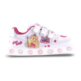 Zapatillas Barbie Con Multi Luces Footy Bcx823 Mundo Manias