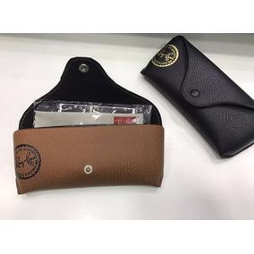Kit 5 Peças - Case Capa Proteção Para Óculos Couro Barato. R  70 60f576ba3a