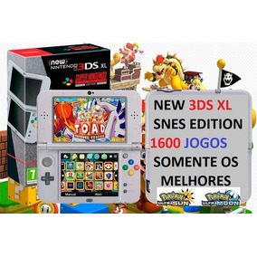 New Nintendo 3ds Xl Snes Edition 1600 Jogos 68gb Pokémon