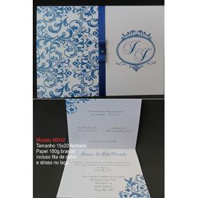 Convite De Casamento Barato (80un)frete Grátis