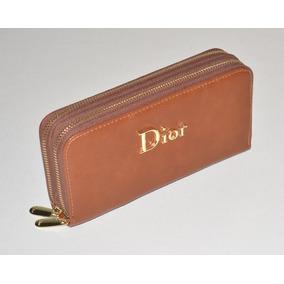 Cartera Dior Chocolate Doble Zipper