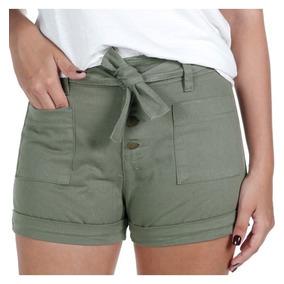 ecbf1d2858 Shorts Sarja Tamanho 36 36 para Feminino Verde no Mercado Livre Brasil