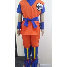 Fantasia Goku Dragon Ball Z Infantil Com Botas!!!!