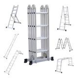Escalera Multipropósito Plegable Aluminio 16 Pasos