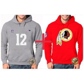 Kit 2 Blusas Moleton Patriots 12 + Washington Redskins Nfl 722c158433478