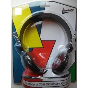 Headphone Leadership 1742 Com Microfone High Tech Preto