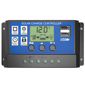 Controlador De Carga 30a 12v/24v Regulador Sistema Solar Lp