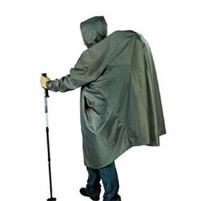 Poncho Impermeável Militar Capa De Chuva Preto Verde Camufla
