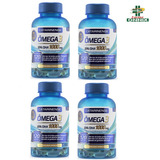 4 Frascos Omega 3 Catarinense 1000mg 120 Cápsulas Original