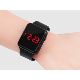Relógio De Pulso Infantil Criança Digital Led Barato Preto