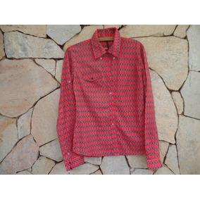 9c7383748e0 Camisa Com Estampada De Losango Colorido - Tam M - Carmim