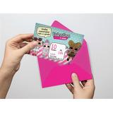 30 Convites Lol, Personalizado, Tamanho 10x15, Sem Envelope