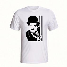 Camiseta Charlie Chaplin Estilizada - Camisetas Manga Curta em Bahia ... a21ad5aa8062e