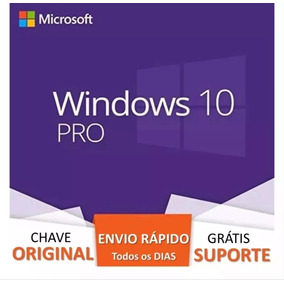 Windows 10 Pro Licença Key Chave 32-64 Bits Online Original
