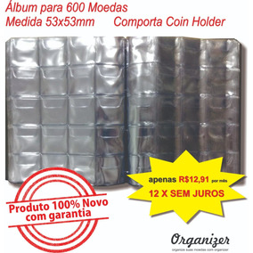 Álbum Para 600 Moedas Comporta Coin Holder 12 X S/ Juros