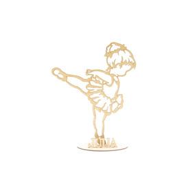 Kit 30und Bailarina Personalizada Infantil Mdf Lembranças