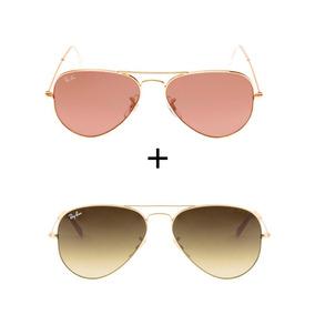 14fc66614ed90 Ray Ban 3026 Marrom Degrade - Óculos De Sol no Mercado Livre Brasil