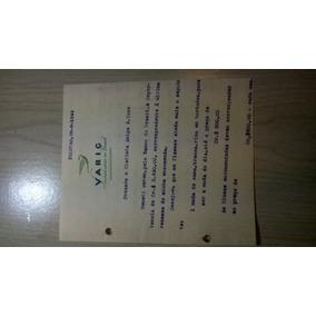 Carta Datilografada Em Papel Varig Pelotas 1944