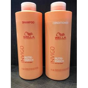 Shampoo + Condicionador 1litro Wella Nutri Enrich+brinde