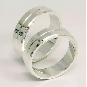de91c3a4346 5mm Alian%c3%a7a Prata Compromisso Lisa - Joias e Relógios no ...