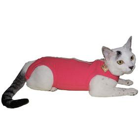 Roupa Cirúrgica Pet Med Para Gatos Rosa - Tamanho 0