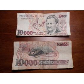 Duas Cédulas De 10mil Cruzeiros