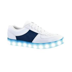 Lukai Tenis Luces Led Luminosos Azul 22 A 26 Envio Gratis