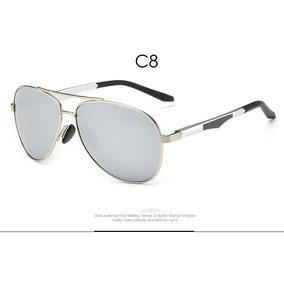 97cd9b955d76a Óculos Sol Aviador Polarizado Pro Acme- Espelhado - Silver §