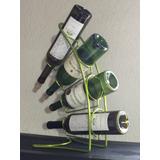 Cava Para 4 Botellas De Vino (en Metal Color Verde Luminoso)