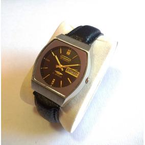 Relógio Citizen Automático Japonês Fundo Preto Espelhado.