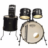 Bateria Acustica Rmv Crossroad 5 Cpos Color Negro + Parches