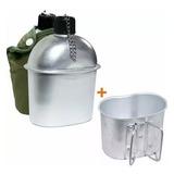 Cantil Com Caneca Nautika Aluminio Militar Tatico Verde Xepa