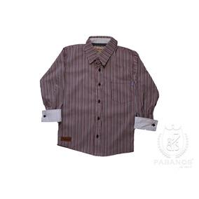 Camisa De Niño De Rayas Vino