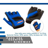 Pack 10x Guantes Pares Deportivos Fitness Kindmax | Sdmed