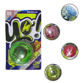 Ioio Yoyo Com Luz De Plastico Colors A Bateria Na Cartela