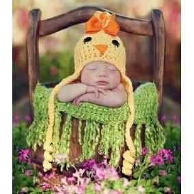 Gorro Crochet Pollito Tejido A Mano Unisex Felices Pascuas