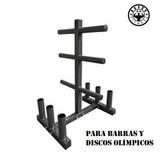 Rack Pesas Atril Organización Para Discos Y Barras Olimpicas