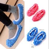 Zapatillas Limpiadora Microfibras Rosado Y Azul
