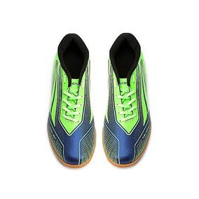 f11529ece05f3 Tenis Futsal Preto E Verde Fluorescente Infantis Penalty - Chuteiras ...