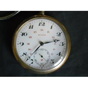 921a8635f16 Relógio Bolso Zenith Plaquetado 110gr. De Cofre Perf Coleção