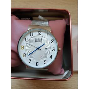 Relógio Dumont Slimanalógico Prata Aço Inox Du2115aag/3t