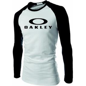 Camisa Camiseta Raglam Manga Longa Oakley Rave Top Novidade 2694f9f3e63
