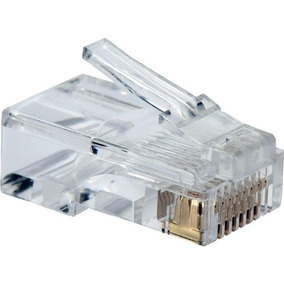 Kit Pacote 100 Conector Rj45 Cat5e Oletech Cabo Rede Plug
