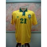 8816c6bbf8 Camisa Antiga Seleção Brasileira no Mercado Livre Brasil