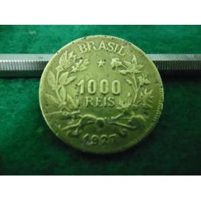 Moeda 1000 Reis 1927 Rara Reverso Invertido 180º Frete Gráti