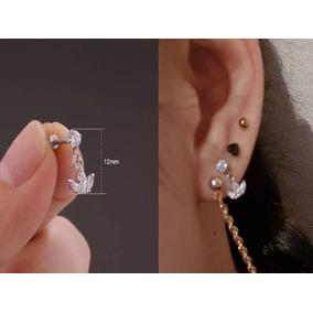Piercing Brinco De Orelha Cartilagem Tragus Coroa Zircônia
