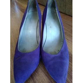 Zapatos Elegantes Gamuza Violetas