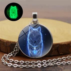 Collar Lobo Brilla En La Oscuridad Luna Regalo Envió Gratis