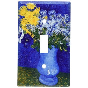 Van Gogh Lilas Margaritas Interruptor Placa 103splate